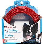 Boss Pet Q5070-000-99 Pdq Dog Trolley System, Red, 70'