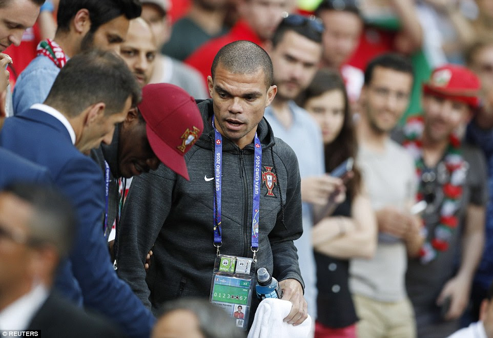 Portugal and Real  defender Pepe missed out on the Euro 2016 semi-final encounter against Wales due to an injury