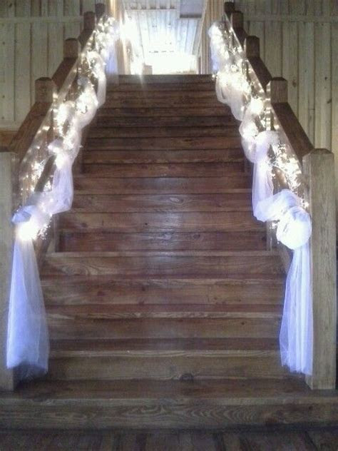 Gorgeous staircase decor Naden wedding 8/24/13   Wedding