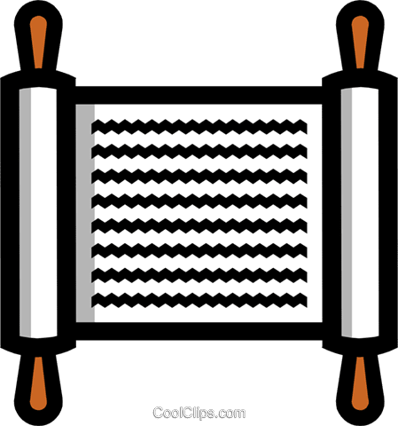 神聖な巻物のシンボル ロイヤリティ無料ベクタークリップアートイラスト