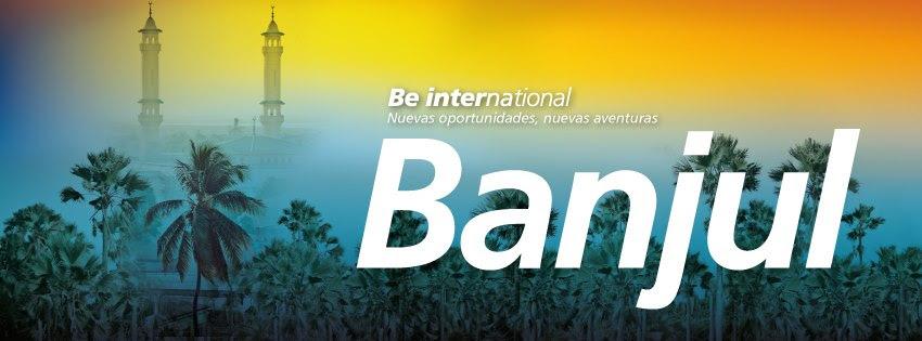 Binter's advert for Banjul flights