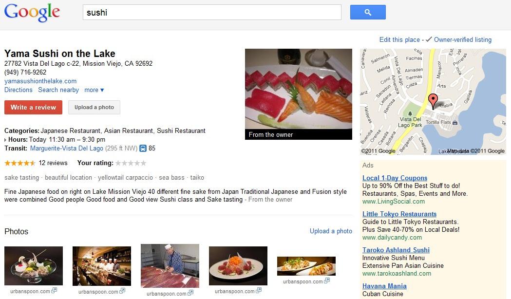 Google Place Sushi