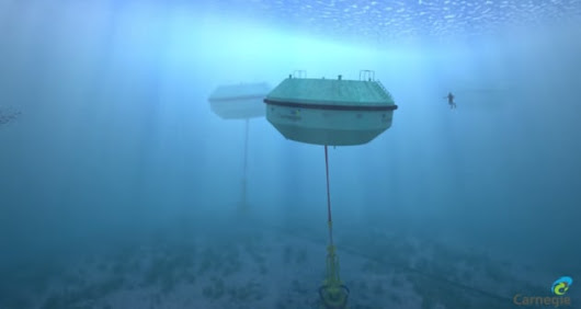 Underwater Aussie wave farms pump both power and water