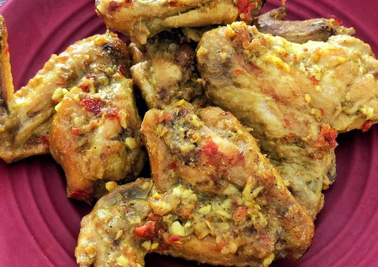 resep sayap ayam betutu versi kering resep enak indonesia Resepi Kepak Ayam Bakar Oven Enak dan Mudah