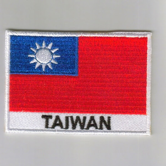 Taiwan embroidered patches - country flag Taiwan patches / iron on badges