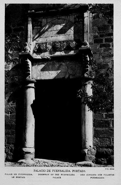 Palacio de Fuensalida a comienzos del siglo XX. Foto Aldus