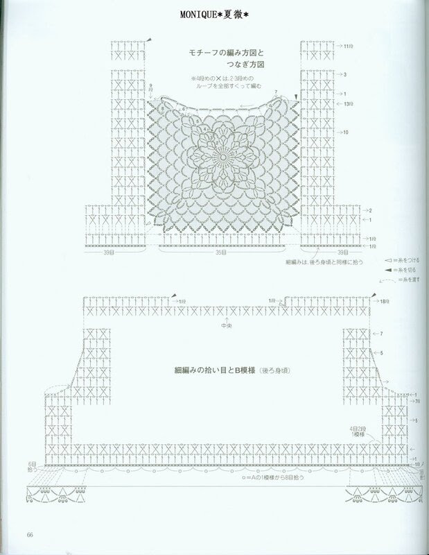 2 Openwork Tunics  Diagrams