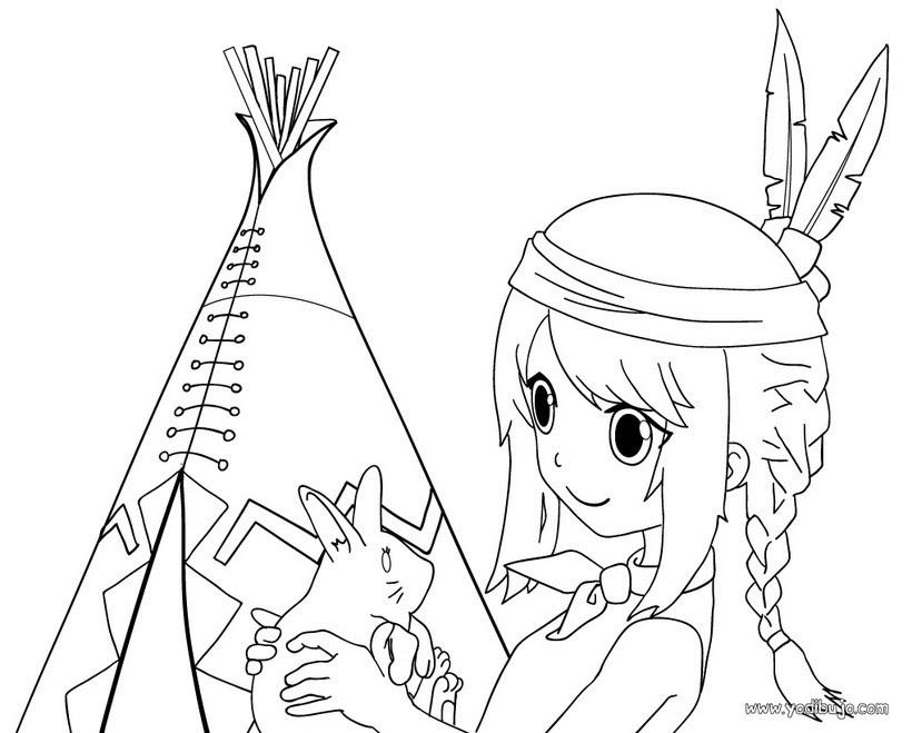 Dibujos Para Colorear Un Jefe Indio Eshellokidscom