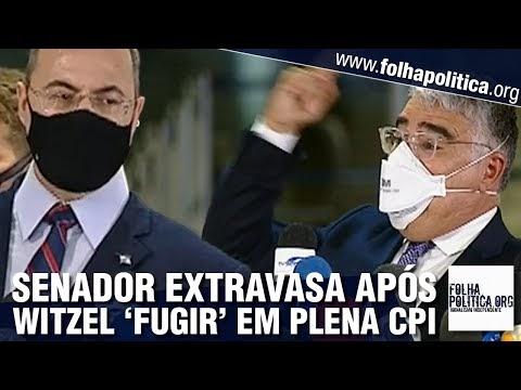 Senador Eduardo Girão extravasa após 'fuga' de Witzel da CPI: 'foi um escárnio, um tapa na cara do povo'