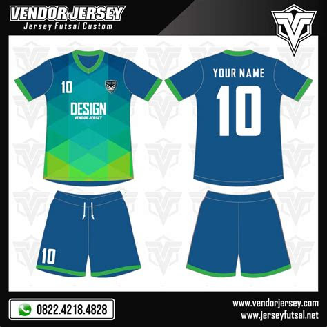 desain baju futsal abstract vendor jersey