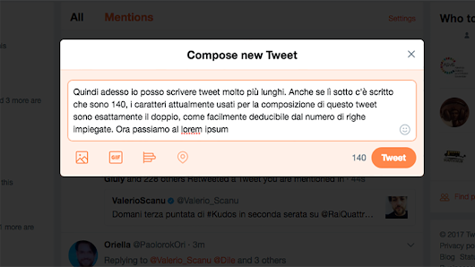 Twitter, come comporre tweet da 280 caratteri - Wired