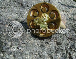 vintage button ring, mattie reid chicago