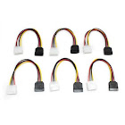 Aleratec Molex to SATA Power Adapter Cable, 6in - 6 Pack