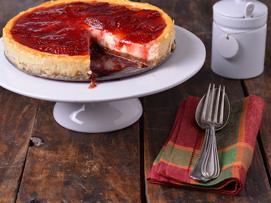 Strawberry cheesecake (Tarta de queso con fresas)