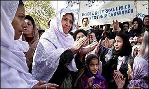 Afghan women shed their burqas