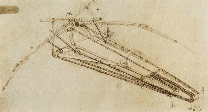 Σχέδιο πτητικής μηχανής, Ντα Βίντσι , 1485