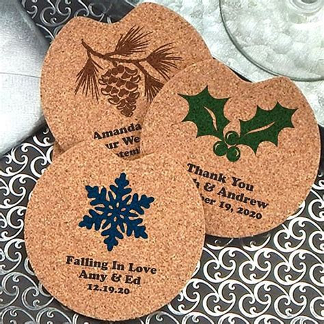 Drink Coaster Favors   Custom Printed Cork Car Cup Holder