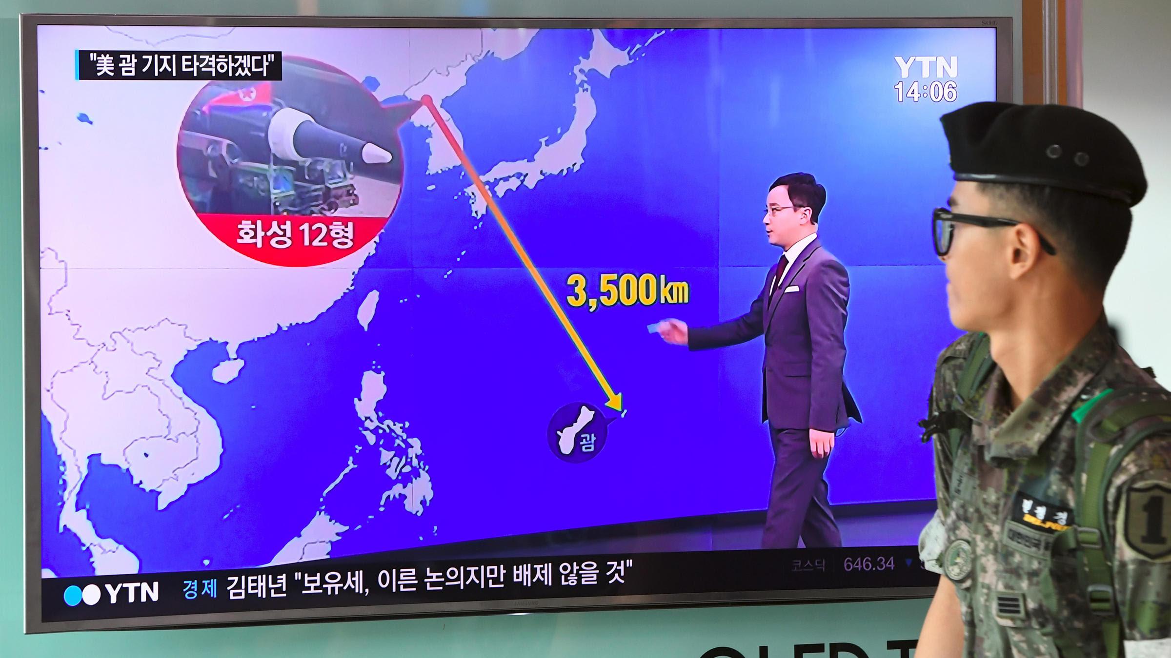 Image result for north korea threatens guam
