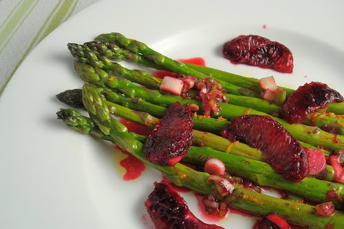 Asparagus with Blood Oranges