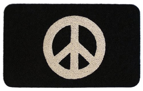 doormat: Online Shopping Kikkerland DM20 Peace Doormat, 30-Inch by 18-