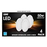 """Feit 4"""" Integrated LED J-Box Retrofit Kit 4-pack"""