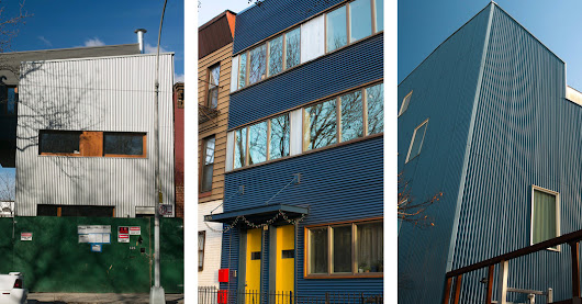 Brooklyn Houses Clad in Metal - The New York Times