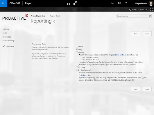 Configure Rollup of Timephased reporting in Project Online