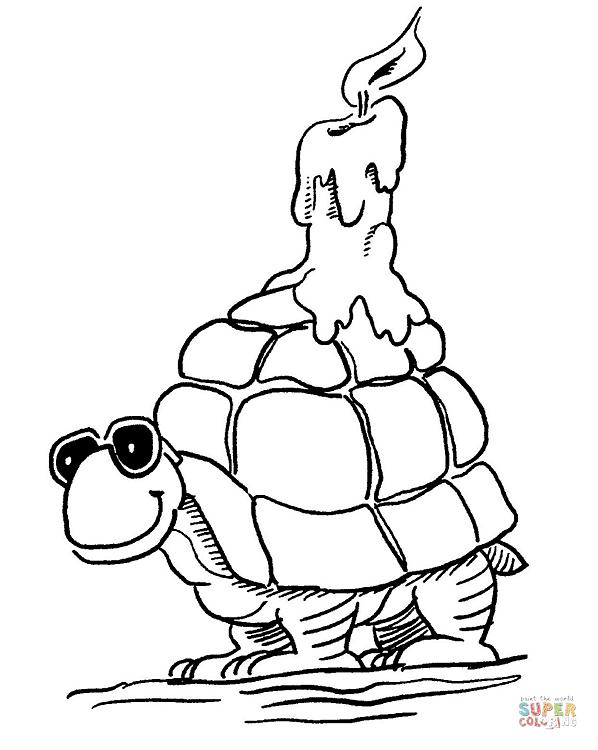 schildkröte zum ausmalen von oben  baldachin