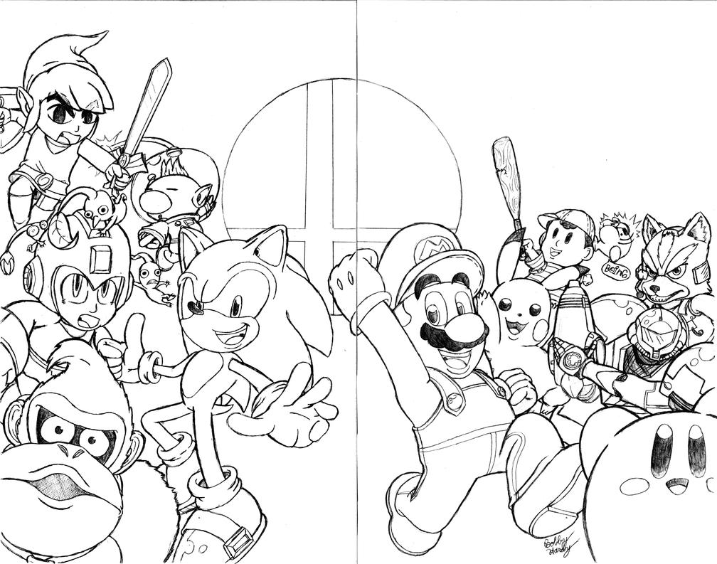 Super Smash Bros. Sketch Cover(2-Page Wrap Around) by ...