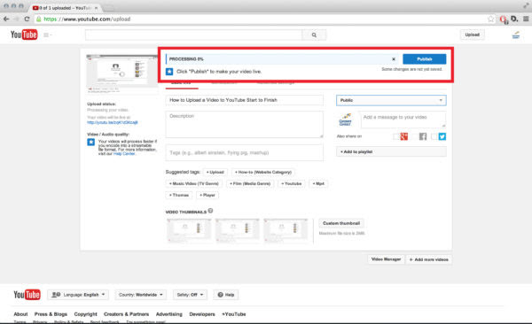 How to Upload a Video to YouTube from Start to Finish ...