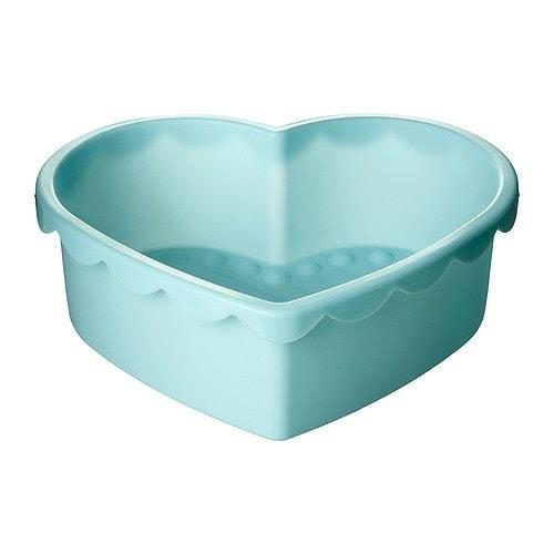 SOCKERKAKA Moule à pâtisserie, en forme de coeur bleu clair Capacité: 1.5 l