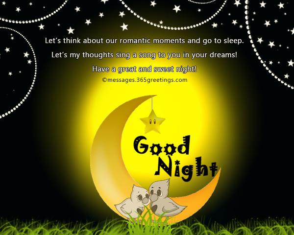 Sweet Good Night Messages 365greetingscom