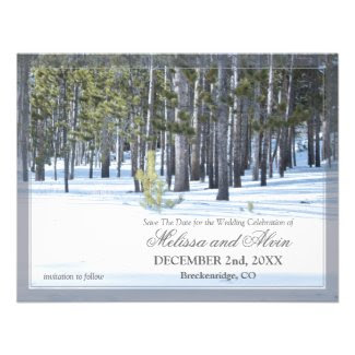 Winter Scene Save The Date Invitation