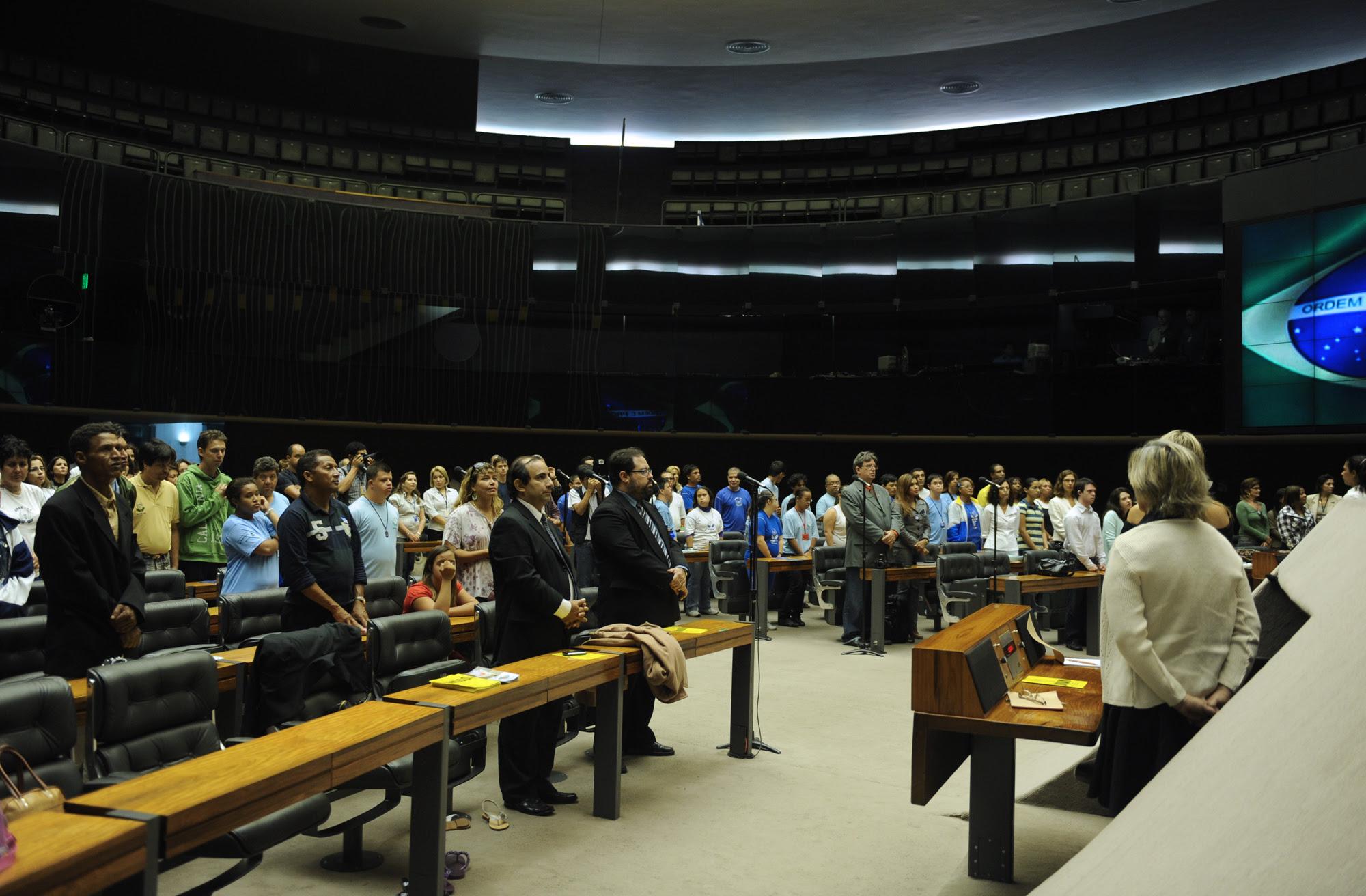 Plenário da Câmara durante a sessão