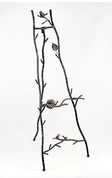 """Metal Bird & Branch Decorative Floor Easel 35"""""""