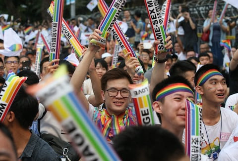 'Taiwan says yes!': In historic decision, top court rules in favor of same-sex marriage