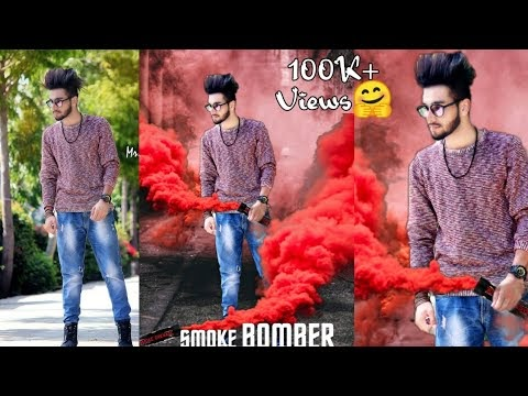 PicsArt Smoke Bomber Effect Editing,Picsart Movie Poster Manipulation Editing