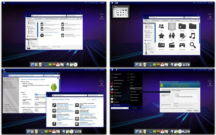 android skin pack 2 0 Windows 7 theme skin Top 10 Windows 7 Themes, Visual Styles, Stylish Transformation Skin Packs for Win7