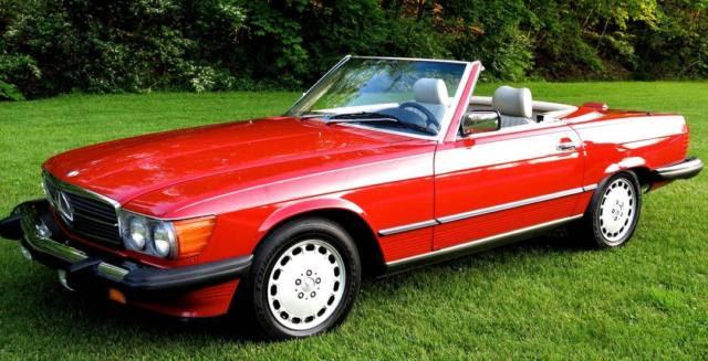 1988 Mercedes Benz 560SL 560 SL Signal Red, Original Paint ...