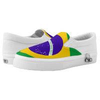 Brazil Flag Printed Shoes