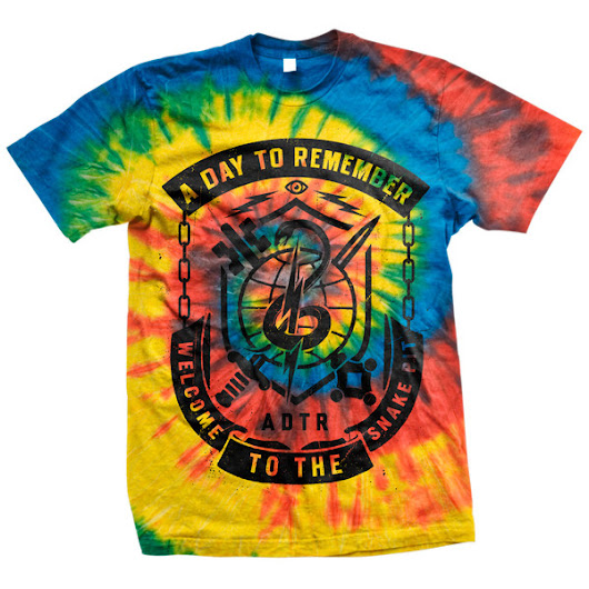 A Day To Remember: Snake Pit T-Shirt (Tie Dye)