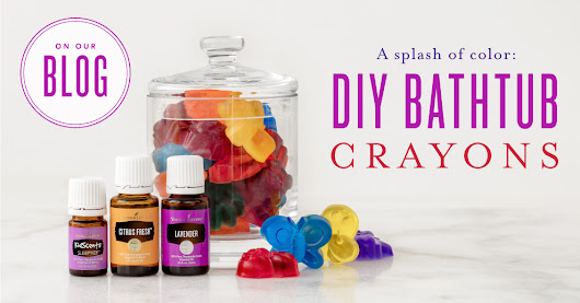 A splash of color: DIY bathtub crayons