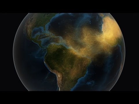 فيديو | ناسا تكشف كيف تغذي رمال الصحراء الغربية الغنية بجزيئات الفسفور غابات الأمازون.