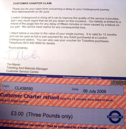 Customer Charter Refund
