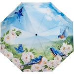 Galleria Blue Birds Folding Umbrella - Blue Birds - Umbrellas