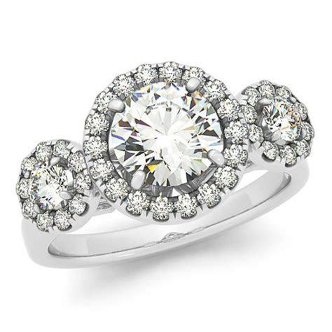 1 Carat Forever One Moissanite & Diamond Three Stone