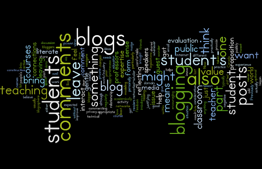 Commenting on student's blogs?