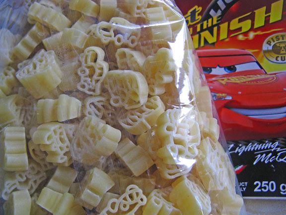 Pasta Disney cars