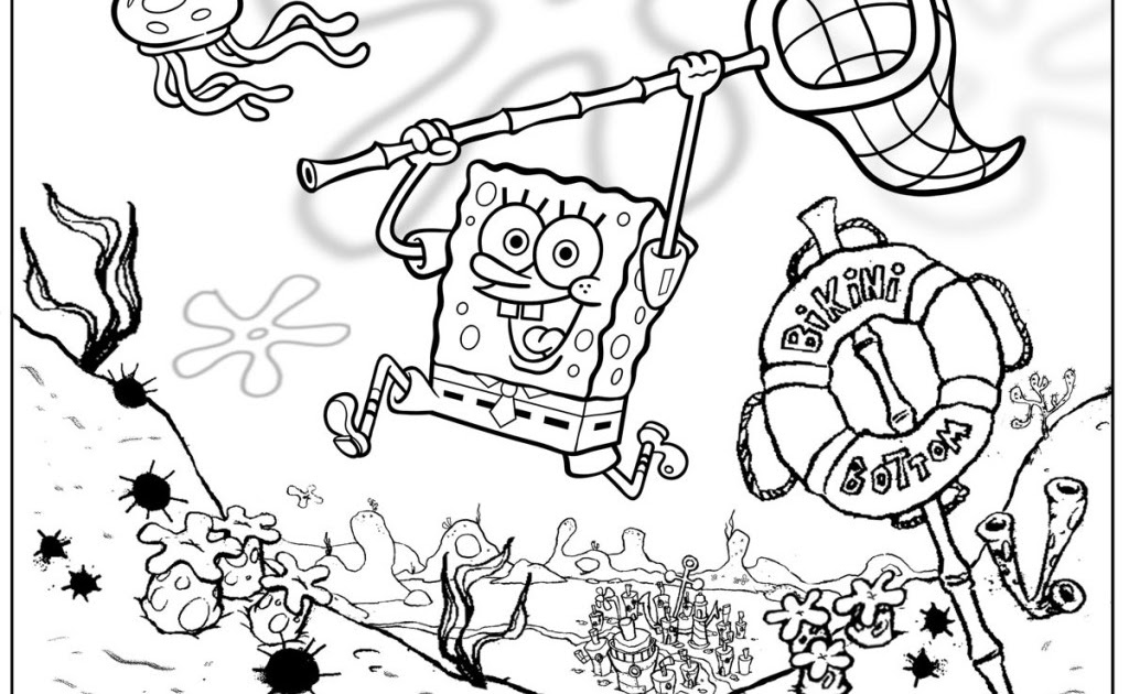 Coloring pages from Spongebob Squarepants animated cartoons ...
