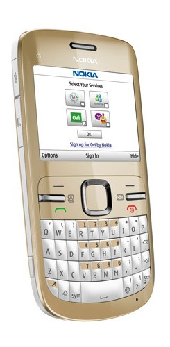 nokia c3 golden white. Nokia C3 Smartphone - Golden